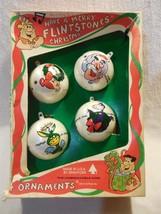 "Flintstones 1976 Bradford Unbreakable 2 1/2"" Christmas Balls Flintstone ... - $11.95"