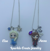 Elsa and Anna Clay Charm Necklace image 2