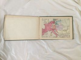 Antique Hardcover 1874 Historical Atlas 100 World Color Maps Labberton image 9