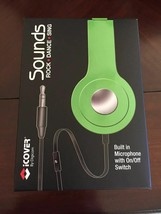 iCover by Digicom Sounds, Built in Microphone w/ On/Off Switch, Green, NIB - $7.59