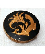 Vintage Mid-Century Powder Compact w/ Puff and Powder Screen - $17.99