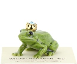 Birthstone Frog Prince March Simulated Aquamarine Miniatures by Hagen-Renaker image 1
