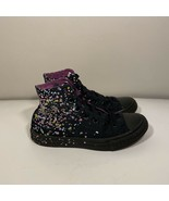 Converse All Star Girls Black Confetti Lace Up Sneaker High Top Shoes Ju... - $27.71