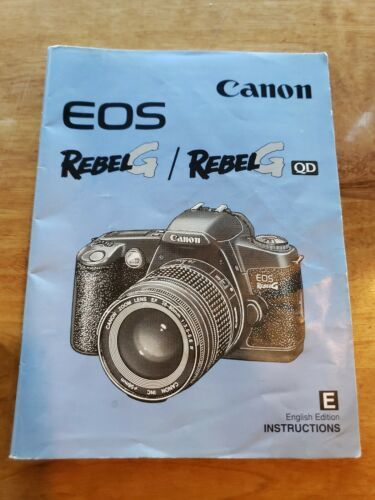 Primary image for Canon EOS Rebel G English Instruction Manual Booklet 1996 CT1-1112-001