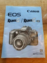 Canon EOS Rebel G English Instruction Manual Booklet 1996 CT1-1112-001 - $14.95
