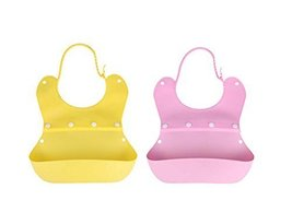 (Yellow+Pink)Fashionable Waterproof Comfortable Baby Bib/Pinafore For Baby
