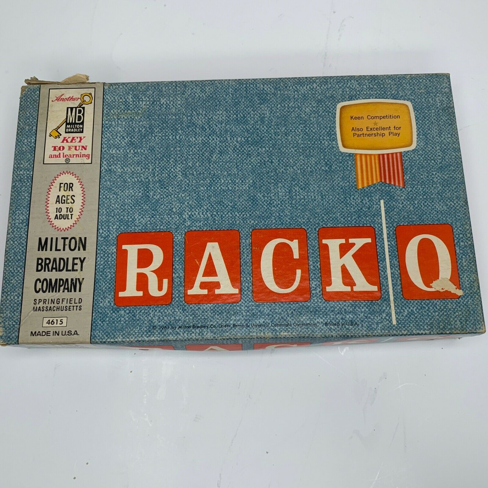 Primary image for Vintage RACKO Card Game By Milton Bradley RACK-O 1961 Complete