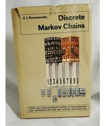 V. I. Romanovsky Discrete Markov Chains Translated By E. Seneta - 1970 - $11.88