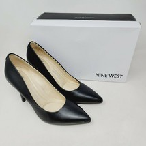 Nine West Fifth9x9 Womens Pumps Black Pointed Toe Leather Shoes Size 6 M... - $37.99