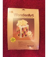 Vintage 70s WonderArt Plastic Canvas Tissue Cover Kit #6000 - by Needlec... - $18.00