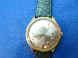 VINTAGE 1970'S HICKOK 23 JEWEL WATERPROOF DATE WINDUP WATCH RUNS WHEN WO... - $120.00
