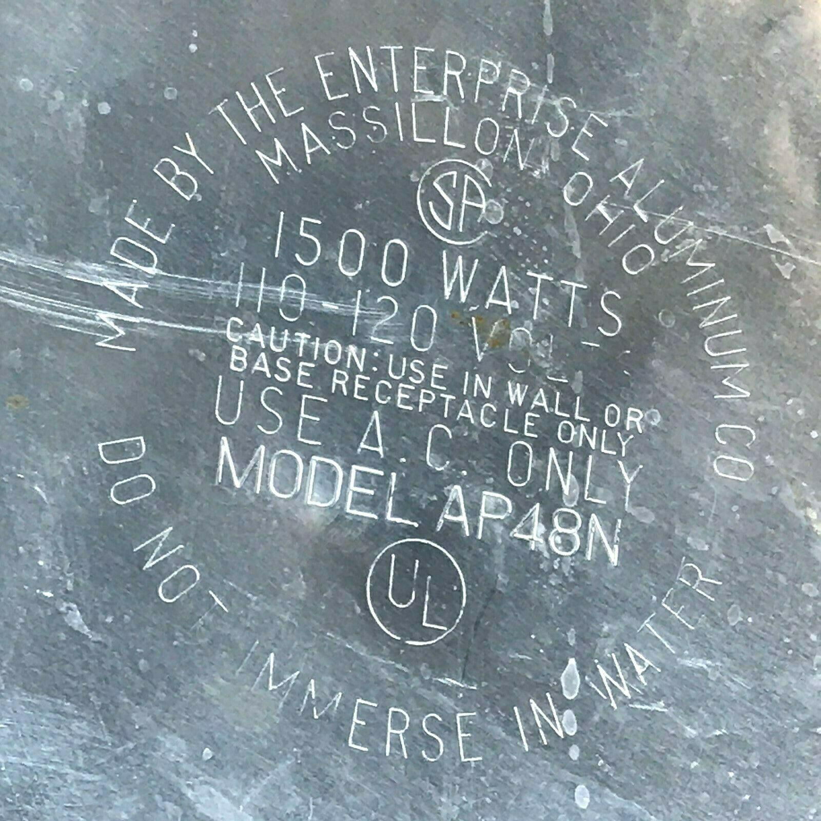 Vintage Enterprise Coffee Percolator 58 cup Urn Model AP48N WORKS Glass Knob LB image 11
