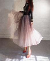 Rose Sparkle Skirt Long Tutu Glitter Skirt Rose Gold Sequin Skirt Floor Length image 10