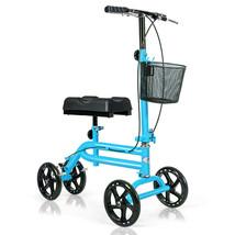 Medical Steerable Knee Walker with Dual Braking System-Blue - Color: Blue - $169.77