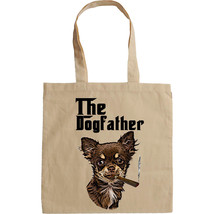 CHIHUAHUA THE DOGFATHER - NEW AMAZING COTTON HAND BAG/TOTE BAG - $15.99