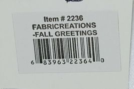 FabriCreations 2236 Fall Greetings Fabric Owl Sculpted Appliqued Embroidered image 7