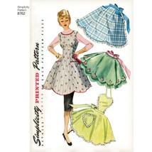 Simplicity Misses' 1950s Vintage Aprons-S-M-L - $17.91