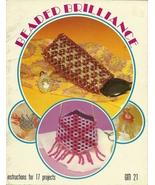 Beaded Brilliance Beading Craft Book GM21 GayleMot 1979 Vintage - $6.99