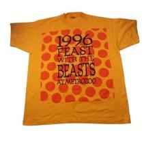 1996 Feast with the Beasts Giraffe Yellow Vtg T-shirt Miami Metro Zoo Sg... - $48.50