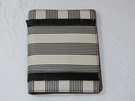 Fossil SL7522080 RFID Passport Case Black Strip This & That leather wallet NWT*^ - $45.04