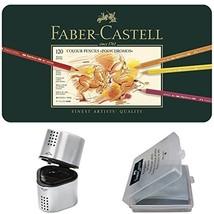 Faber Castell Premium Polychromos 120 Color Pencil Set, with BONUS Trio Pencil S - $225.08
