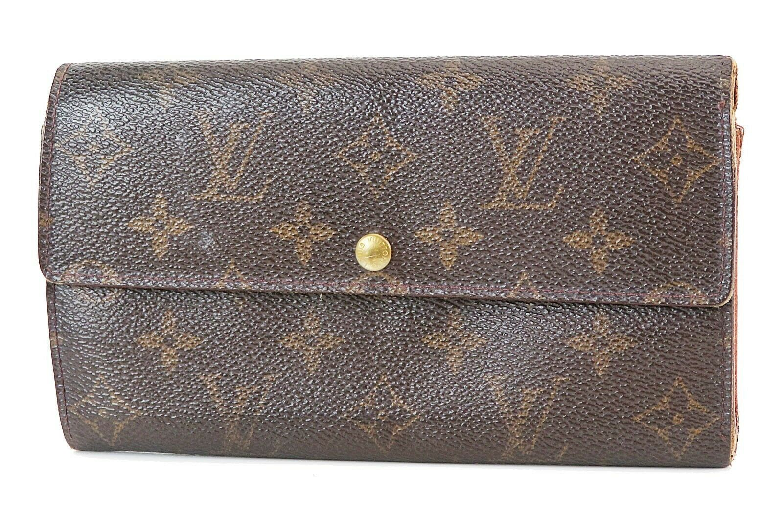 Primary image for Authentic LOUIS VUITTON Sarah Long Wallet Monogram Zippered Coin Purse #38125