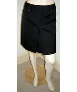 WHITE HOUSE BLACK MARKET Black Stretch Cotton Short Pleated A-line Skirt... - $19.50