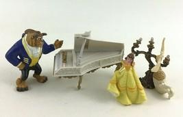 Disney Beauty & The Beast Enchanted Figurine Set Hasbro 4pc Lot Piano Belle Toy - $14.80