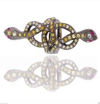 A Pavé 5.57ct Diamante 14k Oro Serpente lungo Anello Rubino - $1,043.77
