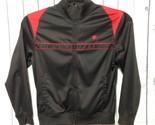 Starter Track Jacket Mens M 38-40 Black Red Full Zip-up Athletic Warm-up