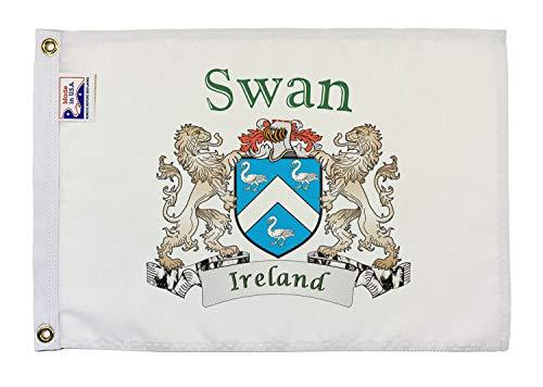 "Primary image for Swan Irish Coat of Arms Small White Flag - 12""x18"" inches"