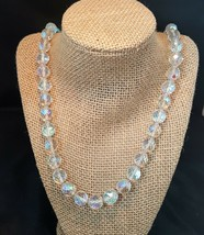 """Vintage Aurora Borealis Faceted Crystal Beaded Necklace 25"""" - $20.00"""