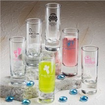 50 Personalized 2 oz Ounce Shooters Shot Glasses Wedding Party Shooter F... - $121.98