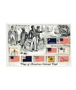 """OVERSIZE POSTCARD- """"FLAGS OF AMERICAN COLONIAL DAYS"""" FIRST DAY OF ISSUE ... - $4.41"""