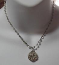 Vintage Trifari Pat Pend Clear Rhinestone Teardrop Pendant Necklace  - $74.25
