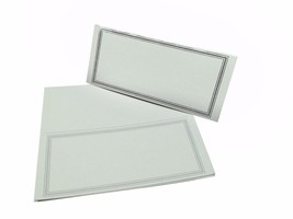 "50 Plain Light Gray Place Cards Scored for easy bending 4.25"" x 1.75"" fo... - $6.92"