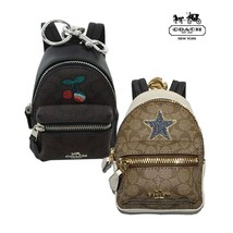 NWT COACH Backpack Coin Case Bag Charm Key Ring Signature - £72.35 GBP+