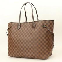 Authentic LOUIS VUITTON Damier Ebene Neverfull GM Shoulder Tote Bag GOOD... - $1,164.24
