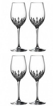 Waterford Crystal Lismore Essence White Wine Pair (2 Pairs) 4 Glasses #1... - $234.78