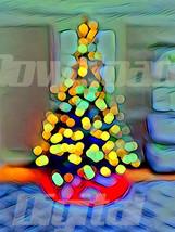 Digital download tree Christmas holiday santa cute Wallpaper Painting Wa... - $5.00