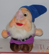 "Disney Store Exclusive Snow White Happy Dwarf 6"" plush toy RARE HTF - $23.38"