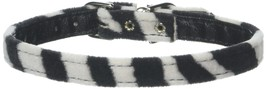 Mirage Pet Products 3/8-Inch Width Plain Animal Print Collar for Pets, 12-Inch, - $15.01