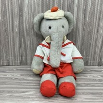Vintage 1977 Babar the Elephant Stuffed Animal Plush Eden Toys 16 Inches - $19.99