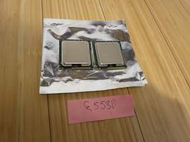 Matched Pair of Intel Xeon E5530 2.4GHz 8MB Quad Core Processor SLBF7 (2... - $18.69