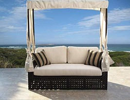 kingrattan.com Contract Quality Outdoor Woven Wicker Single Daybed Fully... - $1,889.42