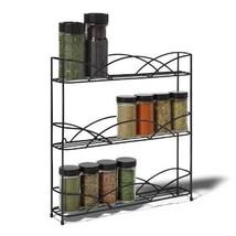 Spice Rack Organizer Kitchen Shelf Storage Cabinet Wall, 3-Tier - $20.70