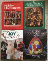 Lot 4 Christmas, Holiday Decorating Crafts books Better Homes, Leisure A... - $13.38