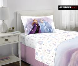 Frozen 2 Disney 3 Piece Microfiber Twin Bedding Sheet Set Pillowcase Kid... - $39.59