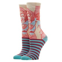 Supergirl Superman DC Comics Faded Neon Sublimated Adult Crew Socks - $11.99