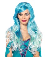 Blue Ombre Long Wavy Mermaid Olefin Wig by Leg Avenue™ - $42.23 CAD